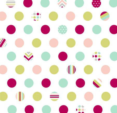 원활한 패턴, 폴카 도트 패브릭, 벽지