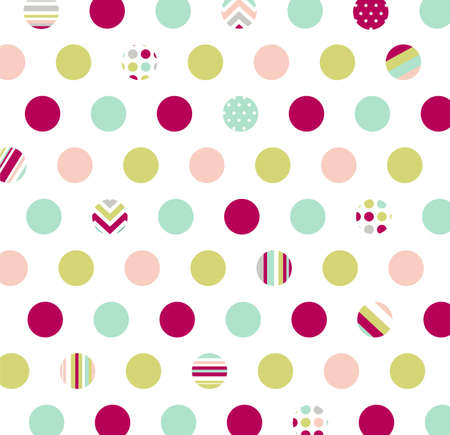 textile industry: seamless pattern, polka dot fabric, wallpaper Illustration