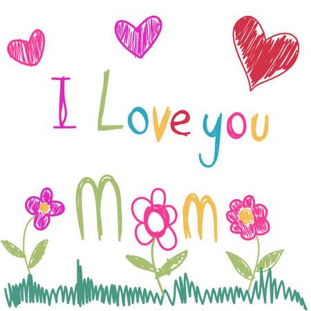 te amo: D�a de la Madre s Vectores