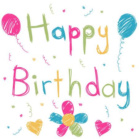 children s: Happy Birthday card