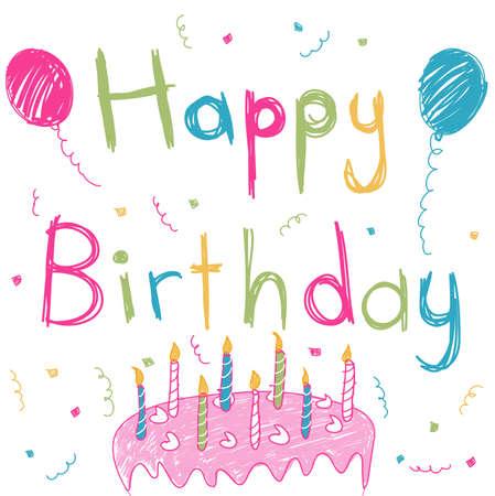 girl happy: Happy Birthday card