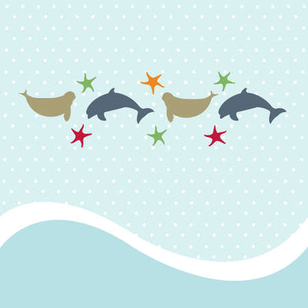 Seamless animal pattern for kids Vector