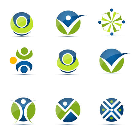 recycle symbol: Human icons