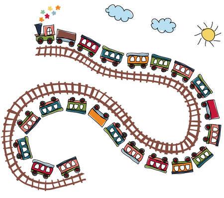 기차 패턴 일러스트
