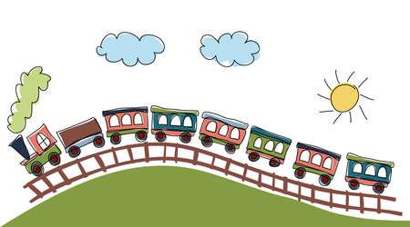 tren caricatura: patrón de tren