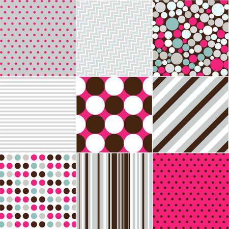polka dot background: seamless patterns with fabric texture Illustration
