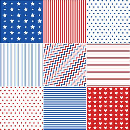 rayas: patrones sin fisuras con textura de tela Vectores