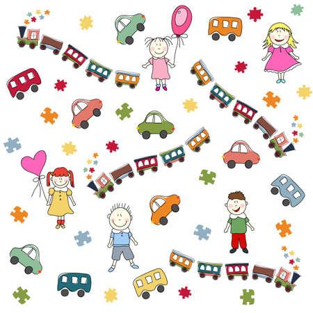 toys pattern Stock Vector - 14469024