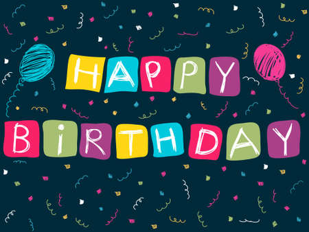 Happy Birthday card Stock Vector - 14605654
