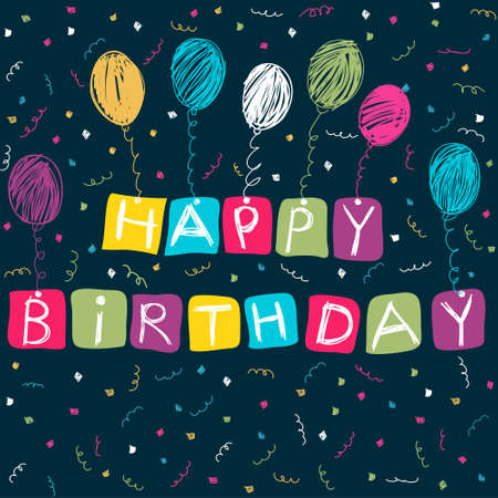 Happy Birthday card Stock Vector - 14605656