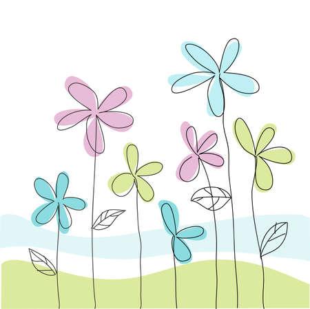 fondos colores pastel: Tarjeta de felicitaci�n floral