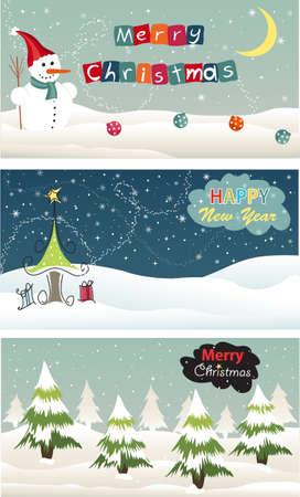 Set of Christmas banner Stock Vector - 17043132