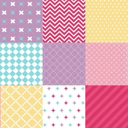 blue clip: seamless patterns with fabric texture Illustration