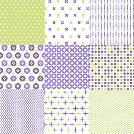 seamless patterns with fabric texture Stock Vector - 19105180