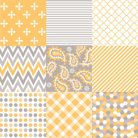 seamless patterns with fabric texture Stock Illustratie