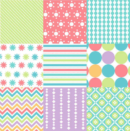 seamless patterns with fabric texture Ilustrace