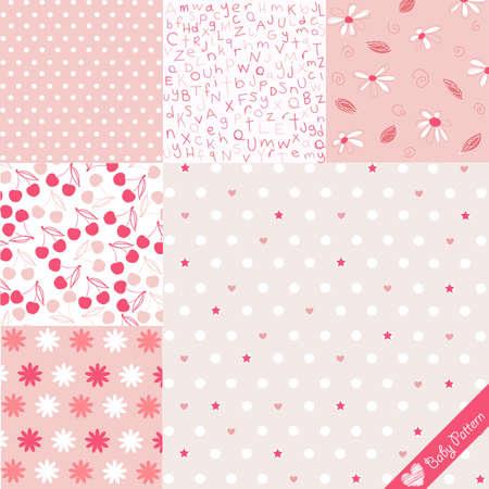 motif floral: Bébé pattern set