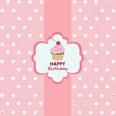 happy holidays: Gelukkige Verjaardag Stock Illustratie
