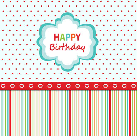 happy people: Happy birthday greeting card
