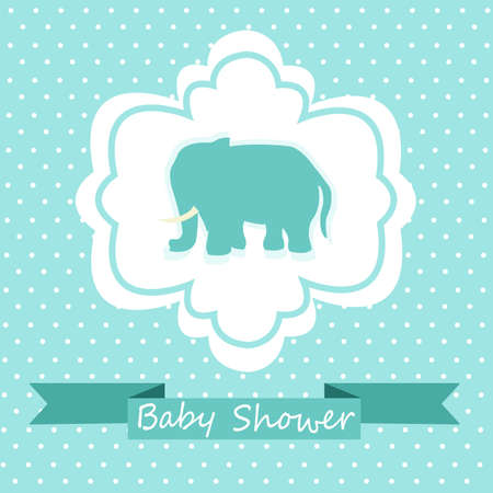 background baby: Baby Shower Invitation Illustration