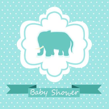baby background: Baby Shower Invitation Illustration