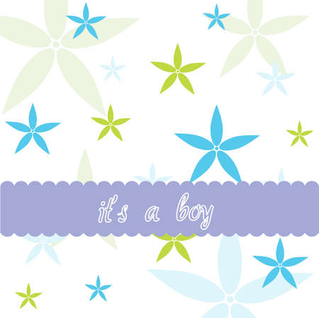it s a boy: Baby boy and floral card