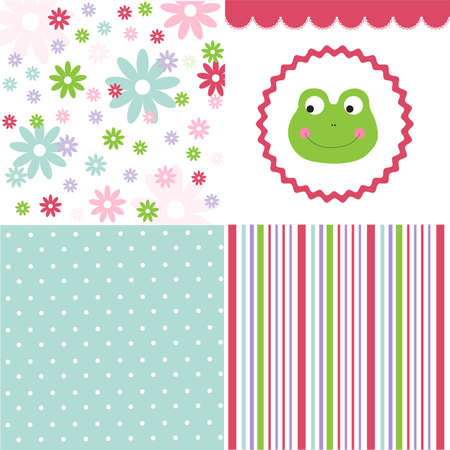 Baby pattern set Stock Vector - 23285249