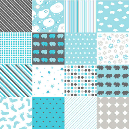 wall clouds: Seamless Patterns Illustration