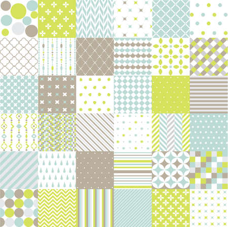 fabrics: Seamless Patterns Stock Illustratie