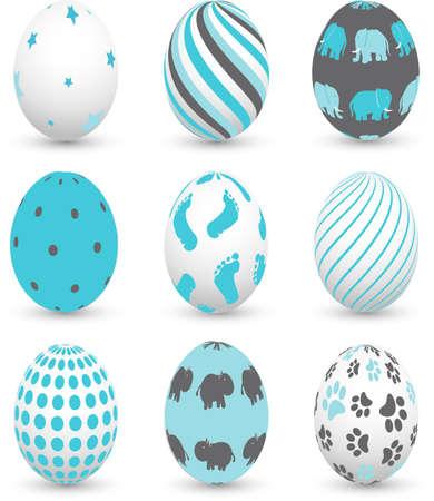 pie bebe: Huevos de Pascua Vectores