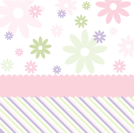 paper clips: Seamless floral pattern