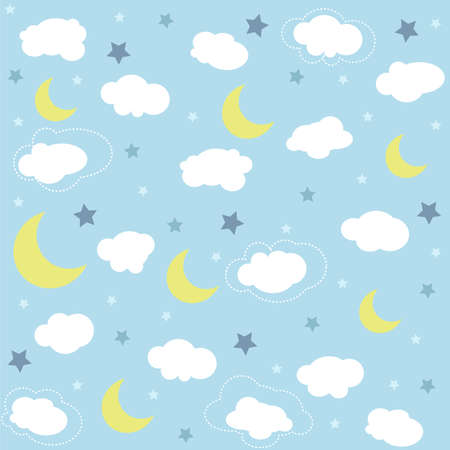 Seamless baby pattern, wallpaper Illustration