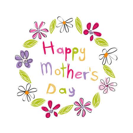 flower art: Giorno disegno Felice della mamma