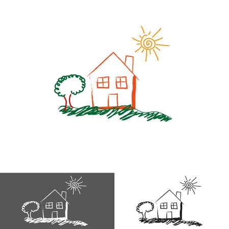 Real estate home icon Vector