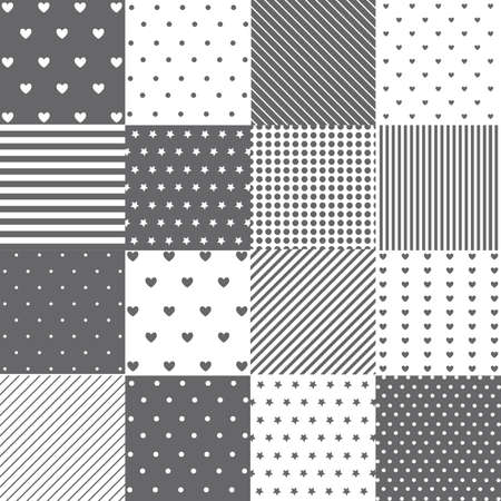 baby scrapbook: Seamless pattern set
