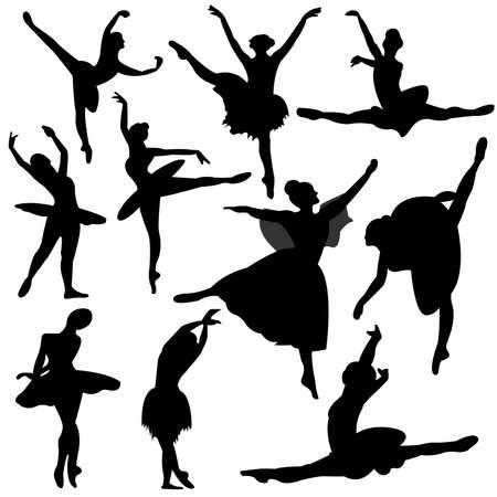 lyrical dance: ballet, ballerina silhouette