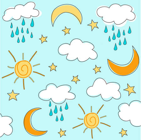 dripped: Sunny seamless baby pattern