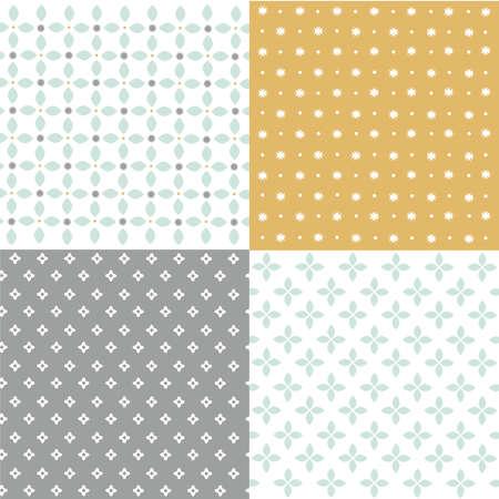 scrapbook paper line: Set of seamless patterns