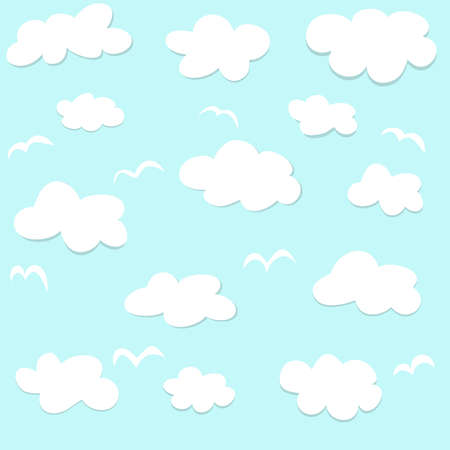 dripped: Seamless pattern with clouds Illustration