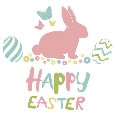 temp: Happy Easter Card Illustration