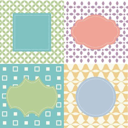 Set of frames on seamless backgrounds Illustration