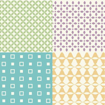 eco slogan: Set of seamless patterns