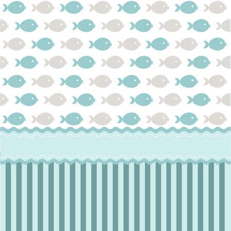 blue fish: Seamless pattern, wallpaper