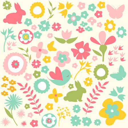 children background: Happy Easter, spring background