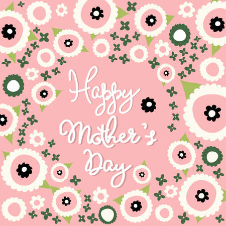 season s greeting: Mothers Day floral pattern