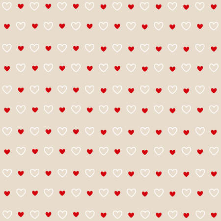 increased: Seamless red and white hearts, Valentines day card