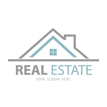 increased: Abstract house logo design template. Business vector icon. Real Estate Illustration