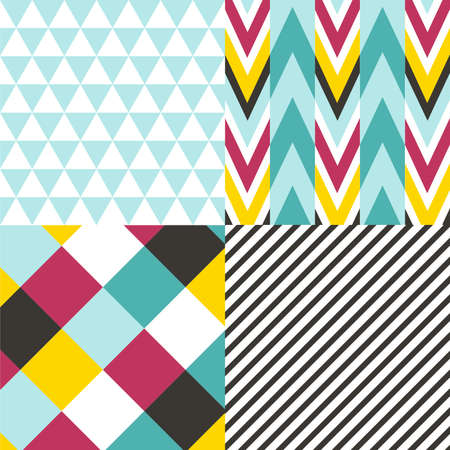 increased: Set of seamless patterns