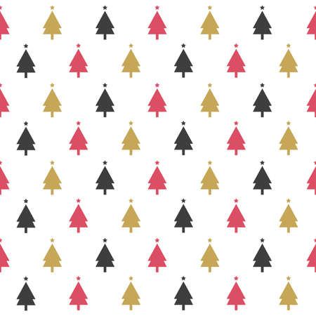 christmas gift: Seamless pattern with Christmas trees