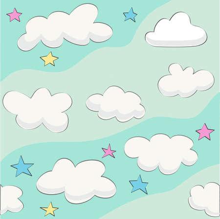 Cute baby cloud pattern